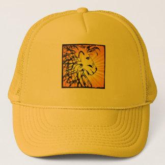 abstrakt som är lejon för kathy southerton truckerkeps
