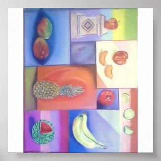 Abstrakt - sommarfruktblandning poster