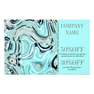 abstrakt SPA för salong för aquablåttvattenfärg Flygblad