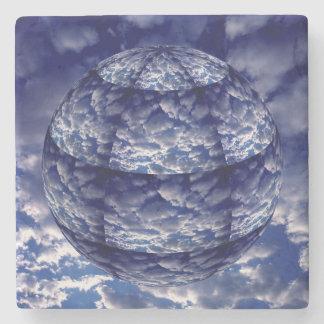 Abstrakt sphere för moln 3D Stenunderlägg