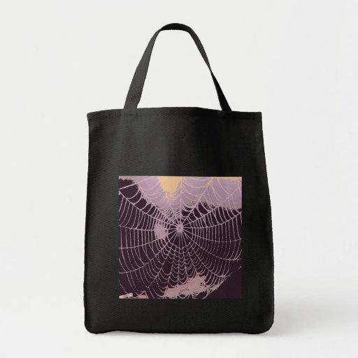 Abstrakt spindelnät tote bag