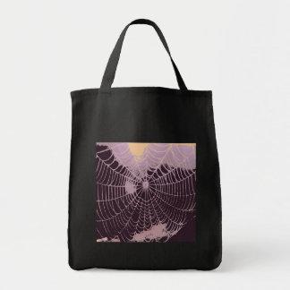 Abstrakt spindelnät mat tygkasse
