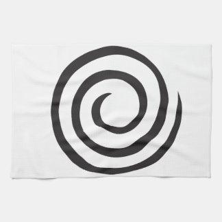Abstrakt spiral kökshandduk
