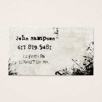 abstrakt stads- grafittivisitkort visitkort