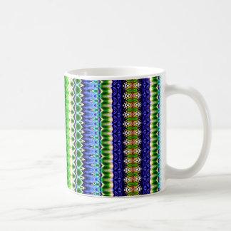 Abstrakt stam- sparremönster för grönt och för kaffemugg