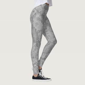 Abstrakt stenvattenfärgtryck leggings