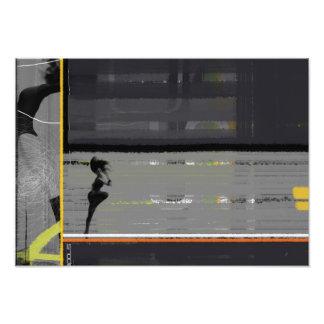 Abstrakt stojar fototryck