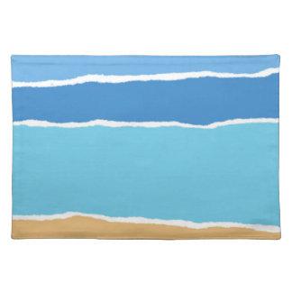Abstrakt strand, hav och himmel bordstablett