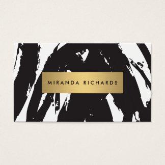 Abstrakt svart penseldrag för Makeupkonstnär Visitkort