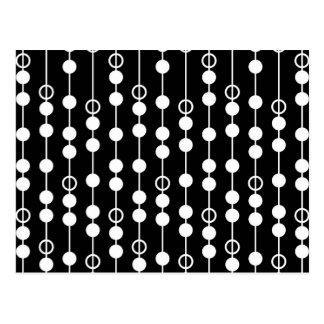 Abstrakt svart- & vittryck vykort