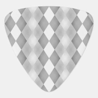 Abstrakt svartvitt kvadrerar mönster plektrum