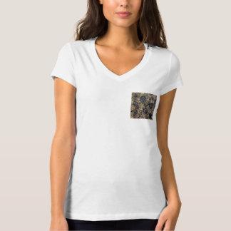 Abstrakt T-tröja för innegrej T-shirt