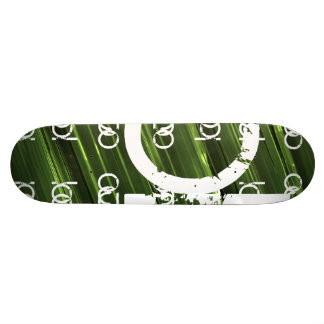 Abstrakt text för grönt metallljus mini skateboard bräda 18,5 cm
