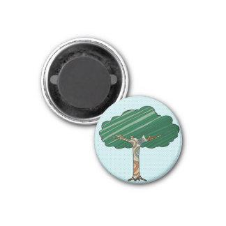 Abstrakt träd magnet