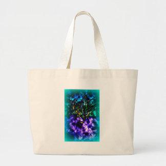 Abstrakt träd med ljust - blåttgräns tote bag