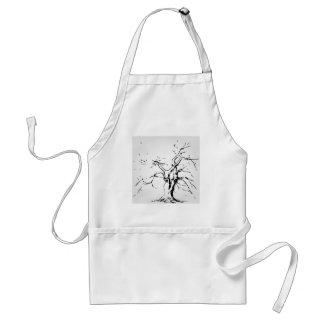 Abstrakt träd med stupade löv förkläde