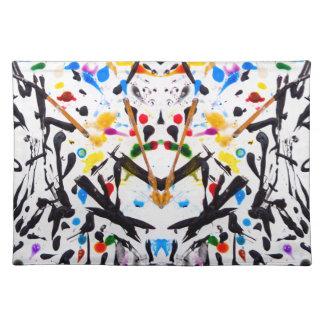 Abstrakt trädgård i reflexion bordstablett