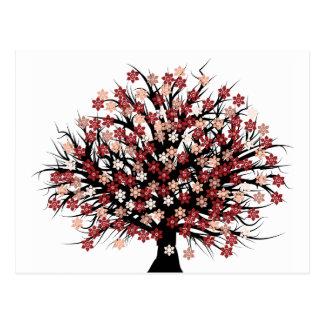 Abstrakt tree hugger vykort