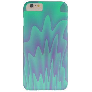 Abstrakt turkos för konstblåttgrönt barely there iPhone 6 plus fodral