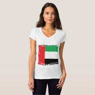Abstrakt UAE-flagga, United Arab Emirates skjorta T Shirts