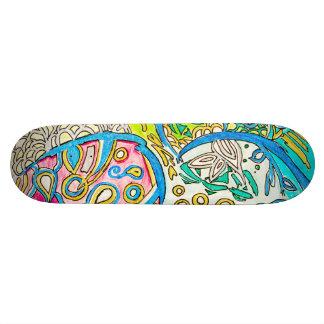 Abstrakt undervattens- design för skateboard bräda 19,5 cm