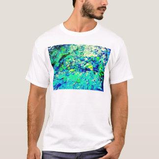 Abstrakt vatten- beskådar tee shirt