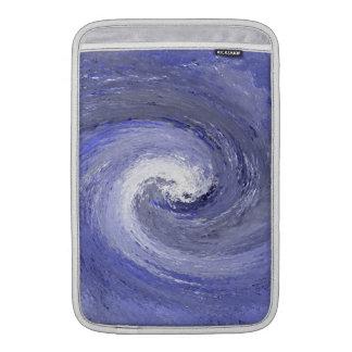 Abstrakt vattenaktivitetbubbelpool - blått MacBook air sleeve