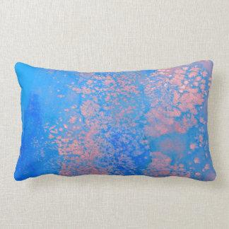 Abstrakt vattenfärg lumbarkudde