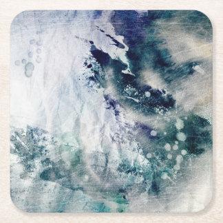 Abstrakt vattenfärgbakgrund på grungepapper 2 underlägg papper kvadrat