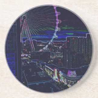 Abstrakt Vegas för pariserhjul för neonkickrulle Underlägg Sandsten