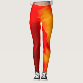 Abstrakt vinkar leggings