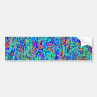 Abstrakt virvlar runt bildekal