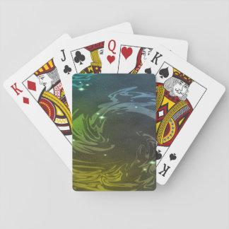 Abstrakt virvlar runt casinokort