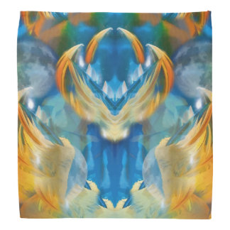 Abstrakt virvlar runt i deppighet och guld scarf