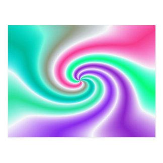 abstrakt virvlar runt vykort
