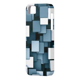 Abstrakt Voxel för futuristiskablåttkub mönster iPhone 5 Skydd