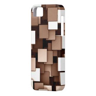 Abstrakt Voxel för futuristiskabruntkub mönster iPhone 5 Case-Mate Skal
