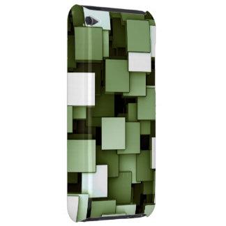 Abstrakt Voxel för futuristiskagröntkub mönster iPod Touch Fodral