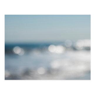 Abstrakt vykort för strand för Bokeh konsttryck