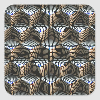 Abstraktkuber Fyrkantigt Klistermärke