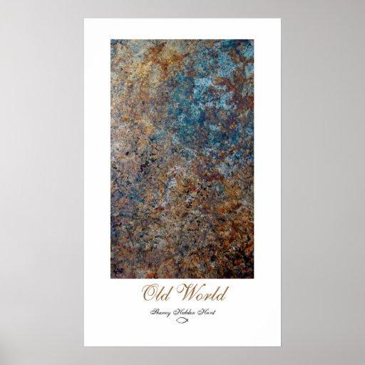 Abstrakttryck för gammal värld posters
