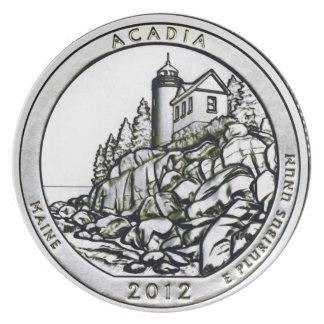 Acadia 2012 Maine inkvarterar Tallrikar