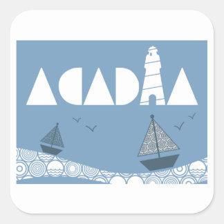 Acadia Fyrkantigt Klistermärke
