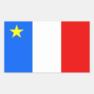 Acadiaflagga Rektangulärt Klistermärke