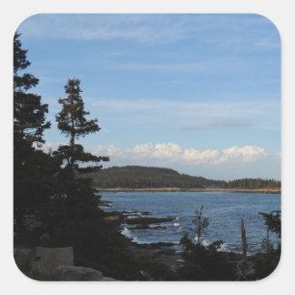 Acadianationalpark, Maine Fyrkantigt Klistermärke
