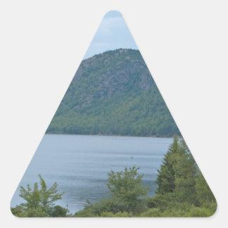 Acadianationalpark Maine Triangelformat Klistermärke