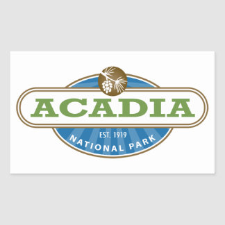 Acadianationalpark Rektangulärt Klistermärke