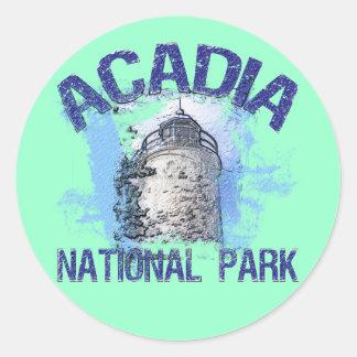 Acadianationalpark Runt Klistermärke