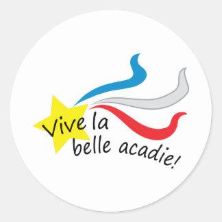Acadie för Vive labelle Runt Klistermärke