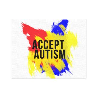 Acceptera Autismkanvastrycket Canvastryck